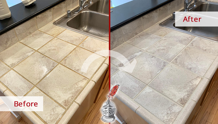 Before and after Picture of Our Tile and Grout Cleaning Process in Seattle, WA
