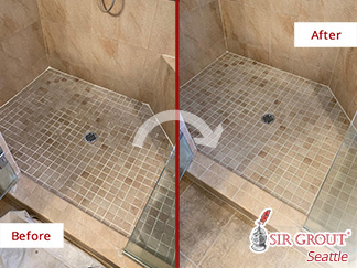Before and after Picture of a Hard Surface Restoration in Issaquah, WA